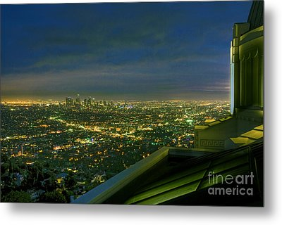 Griffith Observatory  Los Angeles Ca Metal Print by David Zanzinger