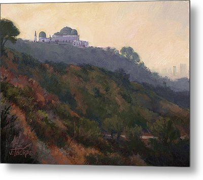 Griffith Park Observatory- Late Morning Metal Print by Jane Thorpe