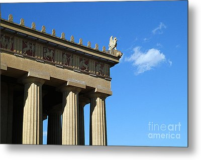 Griffon On The Parthenon  Metal Print by Jeff Holbrook