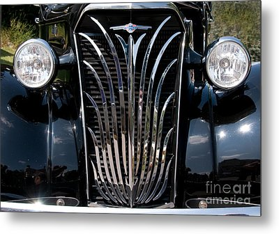 Grill And Headlights Metal Print by Vivian Christopher