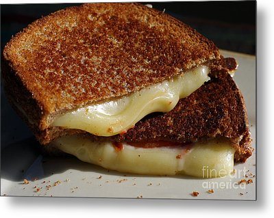 Grilled Cheese Metal Print by Denise Pohl