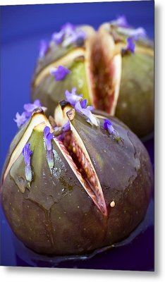 Grilled Figs With Lavender Honey Metal Print