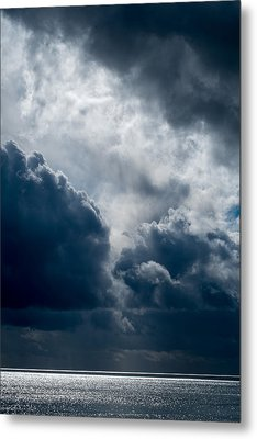 Grim Day At The Beach Metal Print