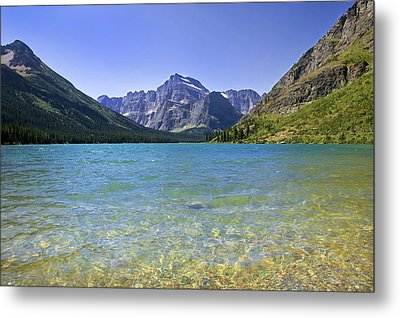 Grinnel Lake Glacier National Park Metal Print by Rich Franco