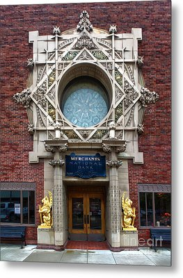 Grinnell Iowa - Louis Sullivan - Jewel Box Bank - 05 Metal Print by Gregory Dyer