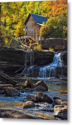 Grist Mill In Babcock State Park West Virginia Metal Print