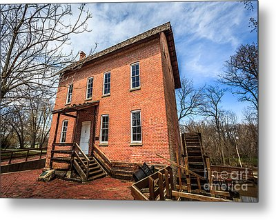 Grist Mill In Northwest Indiana Metal Print by Paul Velgos