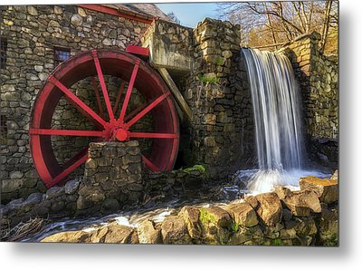 Grist Mill Waterfall Metal Print by Mark Papke