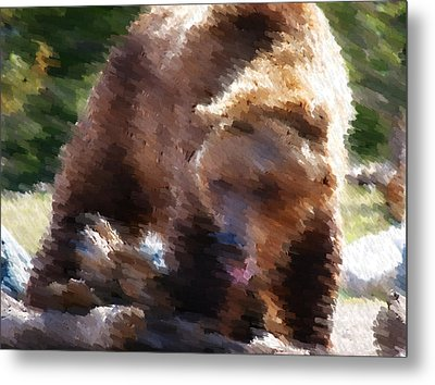 Grizz Metal Print by Kevin Bone
