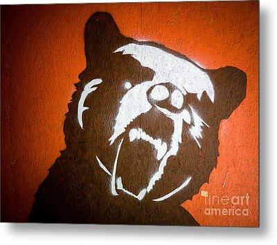 Grizzly Bear Graffiti Metal Print