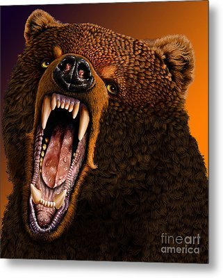 Grizzly Metal Print by Jurek Zamoyski
