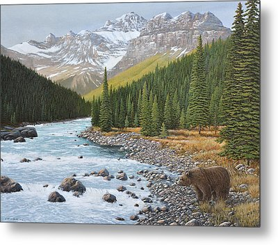 Grizzly Rapids Metal Print
