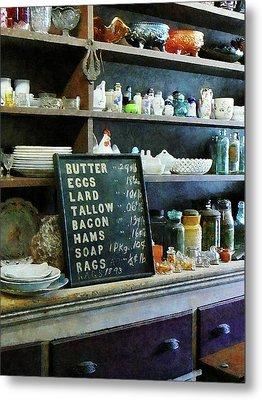 Groceries In General Store Metal Print by Susan Savad