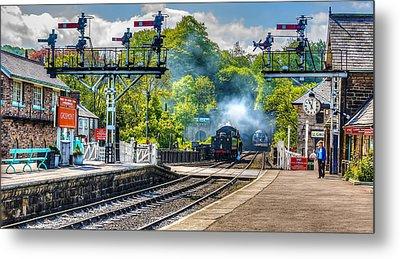 Grosmont Railway Station Metal Print by Trevor Kersley