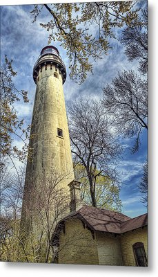 Grosse Point Lighthouse Color Metal Print by Scott Norris