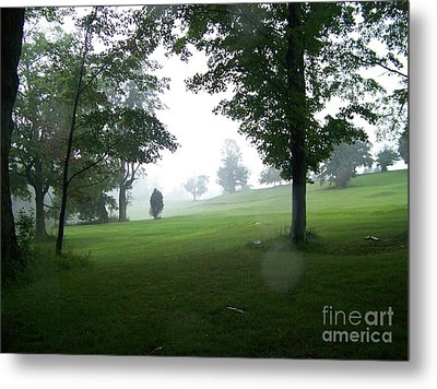 Grossinger Golf Course Rainy Day  Metal Print by Kevin Croitz