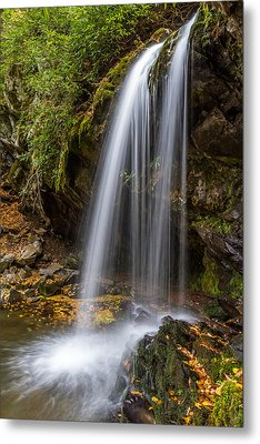 Grotto Falls Great Smoky Mountains Metal Print