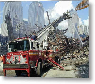 Metal Print featuring the photograph Ground Zero-1 by Steven Spak