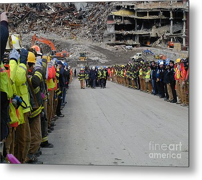 Metal Print featuring the photograph Ground Zero-3 by Steven Spak