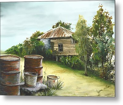 Groundwater Residence Of Days Gone By Metal Print by Lynne Wilson