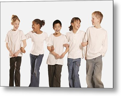 Group Of Children Metal Print by Don Hammond