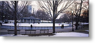 Group Of People In A Public Park, Frog Metal Print by Panoramic Images
