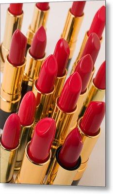 Group Of Red Lipsticks Metal Print