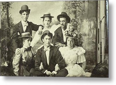 Group Portrait Of Three Men And Three Women Metal Print