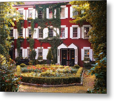 Grove Court Charm Metal Print by Jessica Jenney