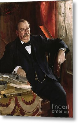 Grover Cleveland Metal Print by Aners Zorn