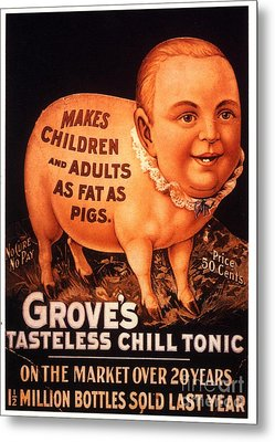 Grove�s 1890s Usa Humour Groves Tonic Metal Print by The Advertising Archives