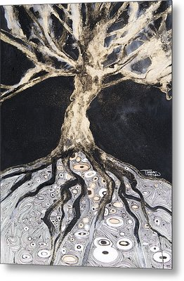 Growing Roots Metal Print by Tara Thelen