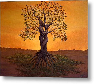 Growing Together Metal Print by Michael Wheeler