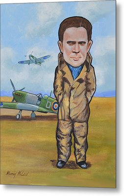 Grp. Capt. Douglas Bader Metal Print by Murray McLeod