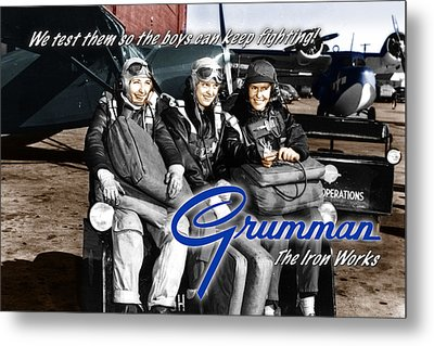 Grumman Test Pilots Metal Print