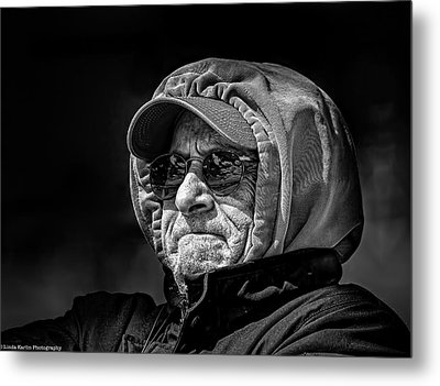 Grumphy Metal Print by Linda Karlin