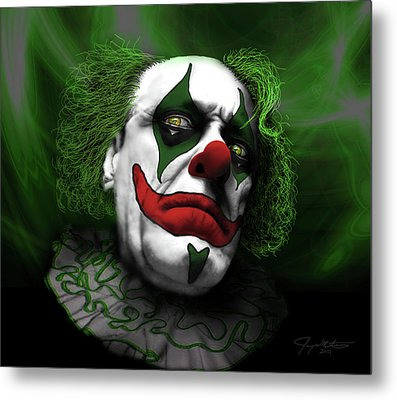 Grumpy Green Meanie Metal Print by Jeremy Martinson