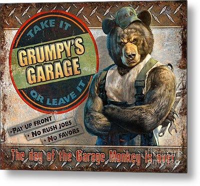 Grumpy's Garage Metal Print