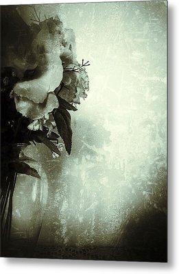 Grunge Flowers 5 Metal Print by Isabella F Abbie Shores FRSA