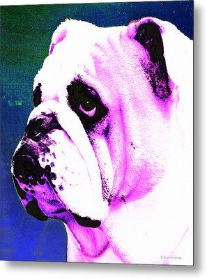 Grunt - Bulldog Pop Art By Sharon Cummings Metal Print by Sharon Cummings