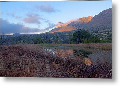 Guadalupe Mountains Sunrise Metal Print by Stephen  Vecchiotti