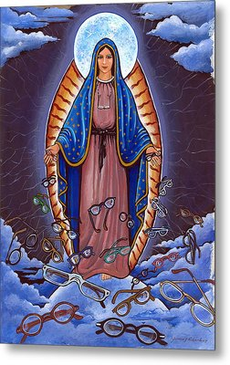 Guadalupe With Glasses Metal Print by James Roderick