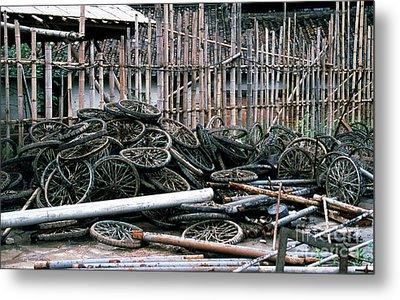 Guangzhou Tires Metal Print by Scott Shaw