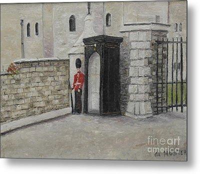 Guard At Windsor Castle Metal Print