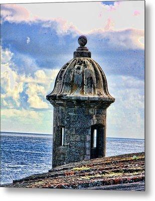Metal Print featuring the photograph Guard Tower At El Morro by Daniel Sheldon