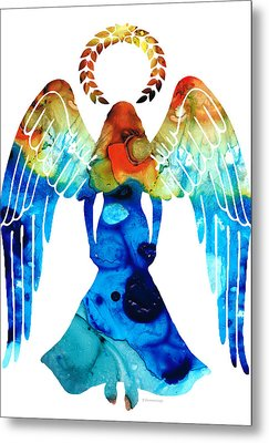 Guardian Angel - Spiritual Art Painting Metal Print