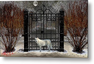 Guardian Of The Gate Metal Print by Michael Rucker