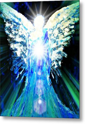 Guardian Of The Light Metal Print