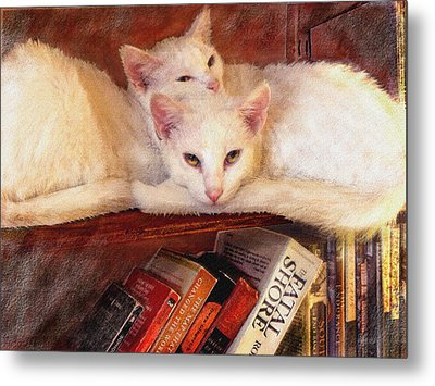 Guardians Of The Library Metal Print by Jane Schnetlage