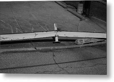 Guardrail Metal Print